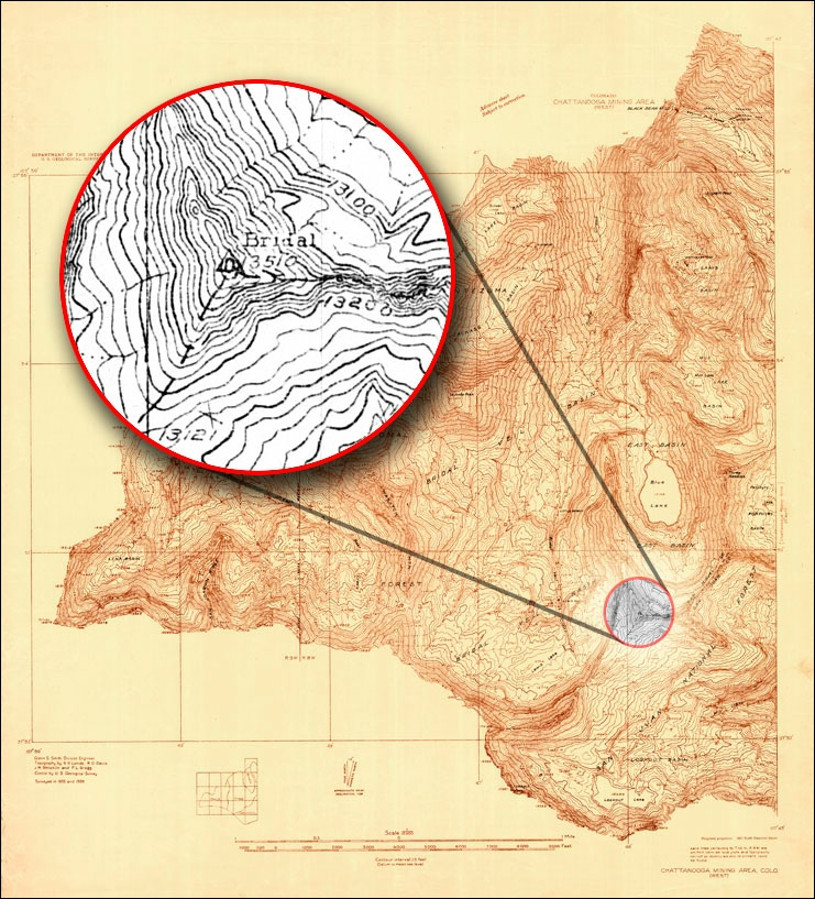 Department of Interior Geologic Survey| Chattanooga Mining Area, CO (West)